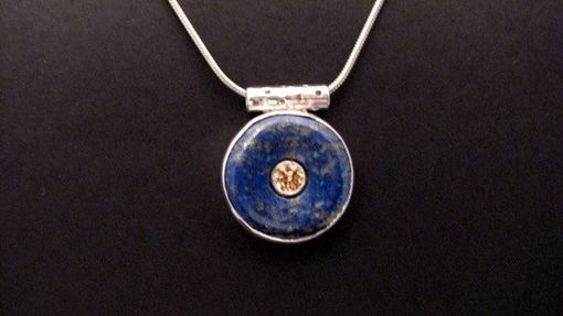 Custom Made Lapis Eternity Circle With Mystic Topaz, Set In Sterling Silver From The Luna Collection