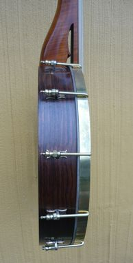Custom Made Violjo - 2011 Level Fret Open Back Banjo With Scroll Top