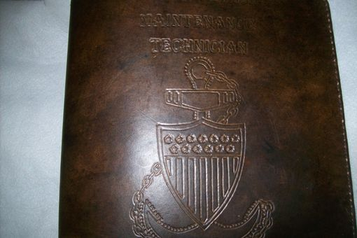 Custom Made Leather Coast Guard Chief Charge Book