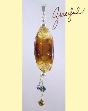 Custom Made Organically Transparent Amber Pendant With Dangles On A Beadhopper