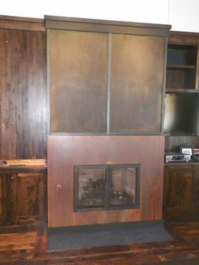 Custom Made Burnt Hollow Fireplaces