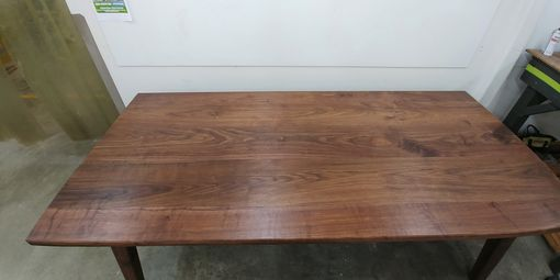 Custom Made Massive Solid Walnut Dining Table