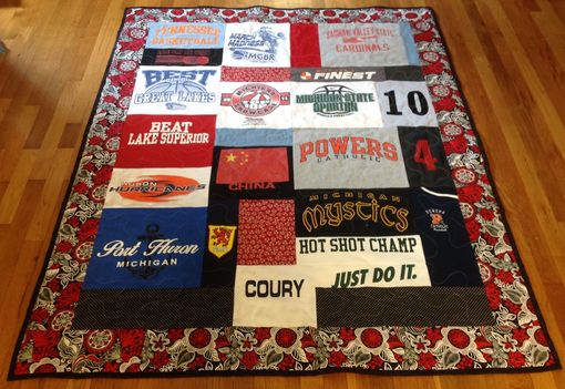 Custom Made Custom High School College Tshirt Jersey Basketball Sports Memory Quilt