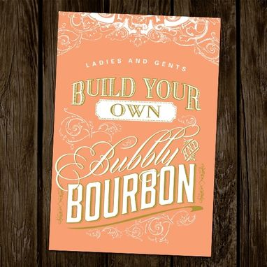 Custom Made Southern Peach Wedding Invitations
