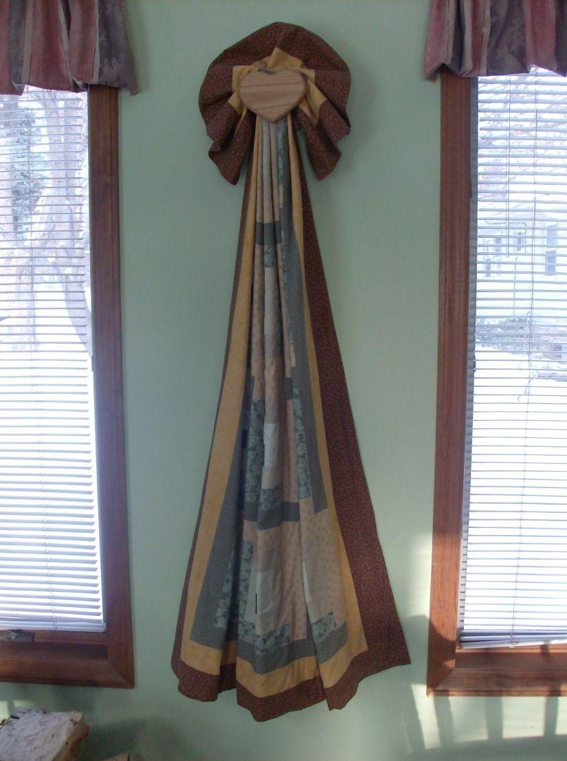 Custom Made Hanging Heart Quilt Or Blanket Rack