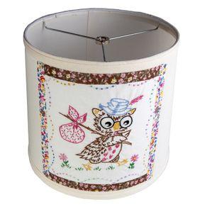 Custom lamp shades custommade adorable vintage embroidered owl fabric on new lamp shade aloadofball Choice Image