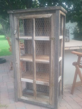 Custom Made Simple Wooden Linen Cabinet