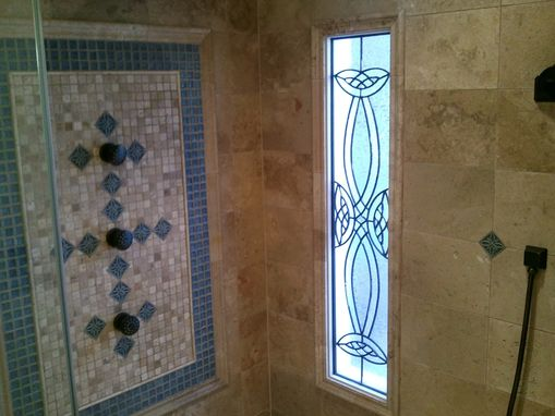 Custom Made Leaded Glass Shower Window