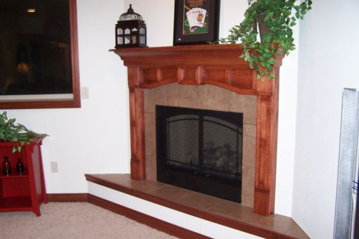 Custom Made Custom Fireplace Mantel- Main Level & Custom Fireplace Surround Lower Level