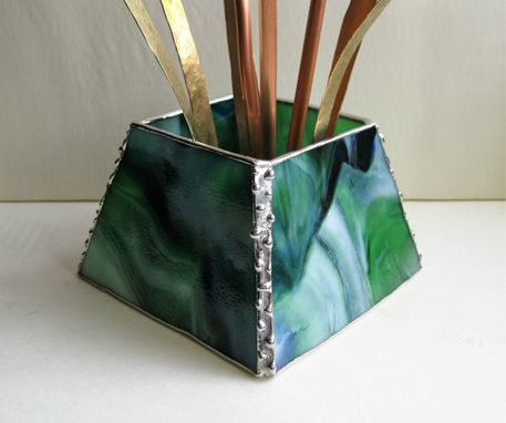 Custom Made Day Lilies In Stained Glass- Centerpiece/ Sculpture