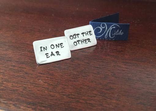 Custom Made In One Ear, Out The Other.... Stud Earrings