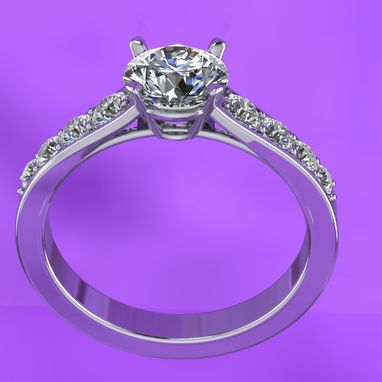 Custom Made Cathedral Set Engagement Ring