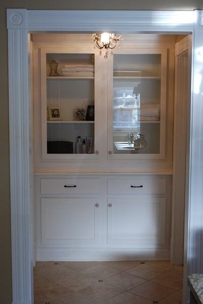 Brand-new Hand Crafted Built-In Linen Closet by Larue Woodworking  YC91