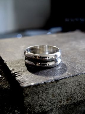 Custom Made Simple Sterling Silver Ring - Masculine Ring - Modern Silver - Unisex Ring - Custom Sized