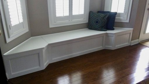 Custom Made Banquette Bench For A Bay Window, Kitchen Seating, Shaped Bench, Breakfast Nook