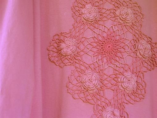 Custom Made Upcycled Vintage Doily  Long Cotton Dress