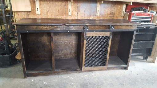 Custom Made Industrial Media Console