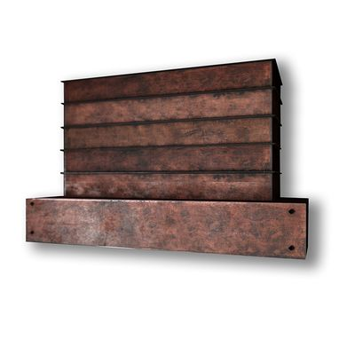 Custom Made #112 E104 Standard Rustic Rusty Steel Range Hood