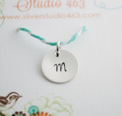 Custom Made Stamped Initial Charms For Necklace Personalized Initial Charm