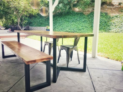 Custom Made Reclaimed Wood + Steel Dining Table