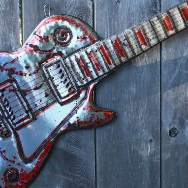 Custom Made Gibson Les Paul Electric Guitar Sculpture In Solid Aluminum