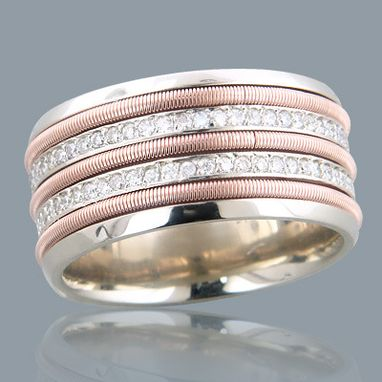Custom Made Comfort Fit Diamond Wedding Band