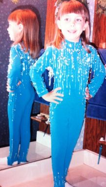 Custom Made Hand Beaded Jumpsuit.. Great For Competitions