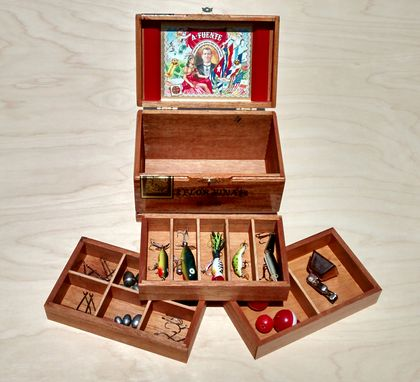 Custom Made Jewelry/Keepsake/Tackle Box Made From Arturo Fuente Flor Fina 858 Cigar Box