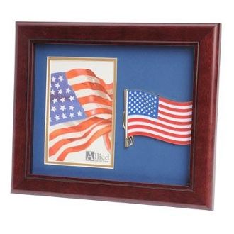 Custom Made American Flag Medallion Portrait Picture Frame 4 By 6