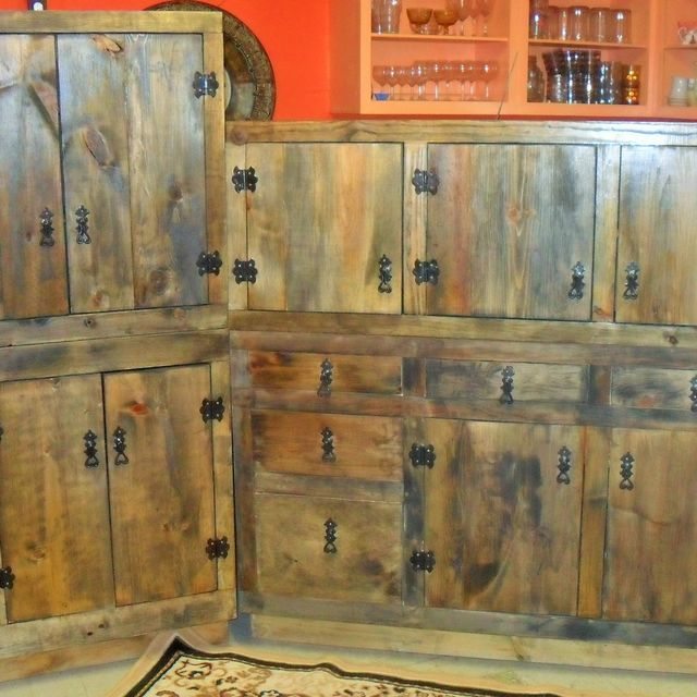 Custom Rustic Kitchen hand made rustic kitchen cabinetsthe bunk house | custommade