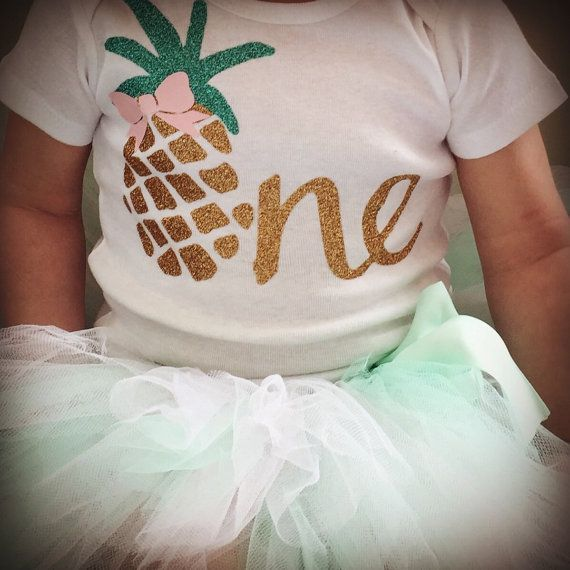 Custom Made Pineapple First Birthday Outfit