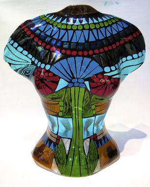 Custom Made Egyptian Inspired Glass Torso
