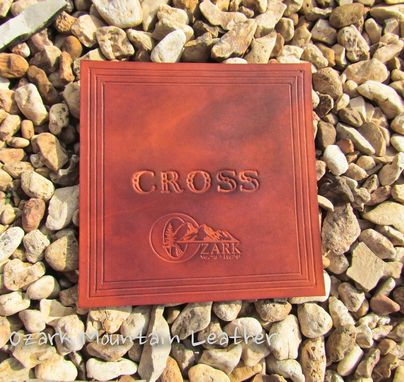 Custom Made Customized Leather Coasters