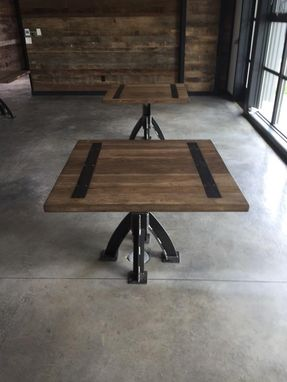 Custom Made Modern Industrial Cafe Tables