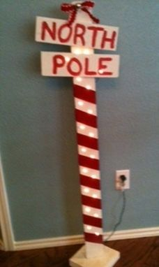 Custom Made North Pole Sign