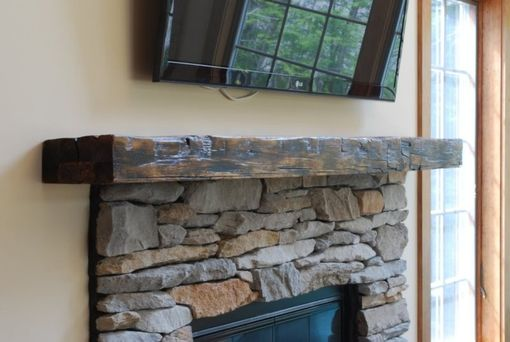 Custom Made Reclaimed Beam Mantle