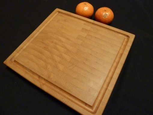 Custom Made Maple End Grain Chopping Board, Butcher Block, Island