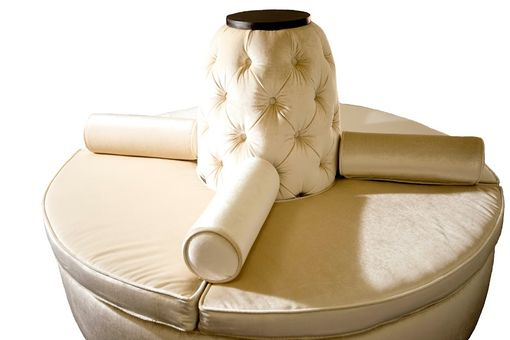 Custom Made Custom Hand Made Center Round Settee Banquette Sofa