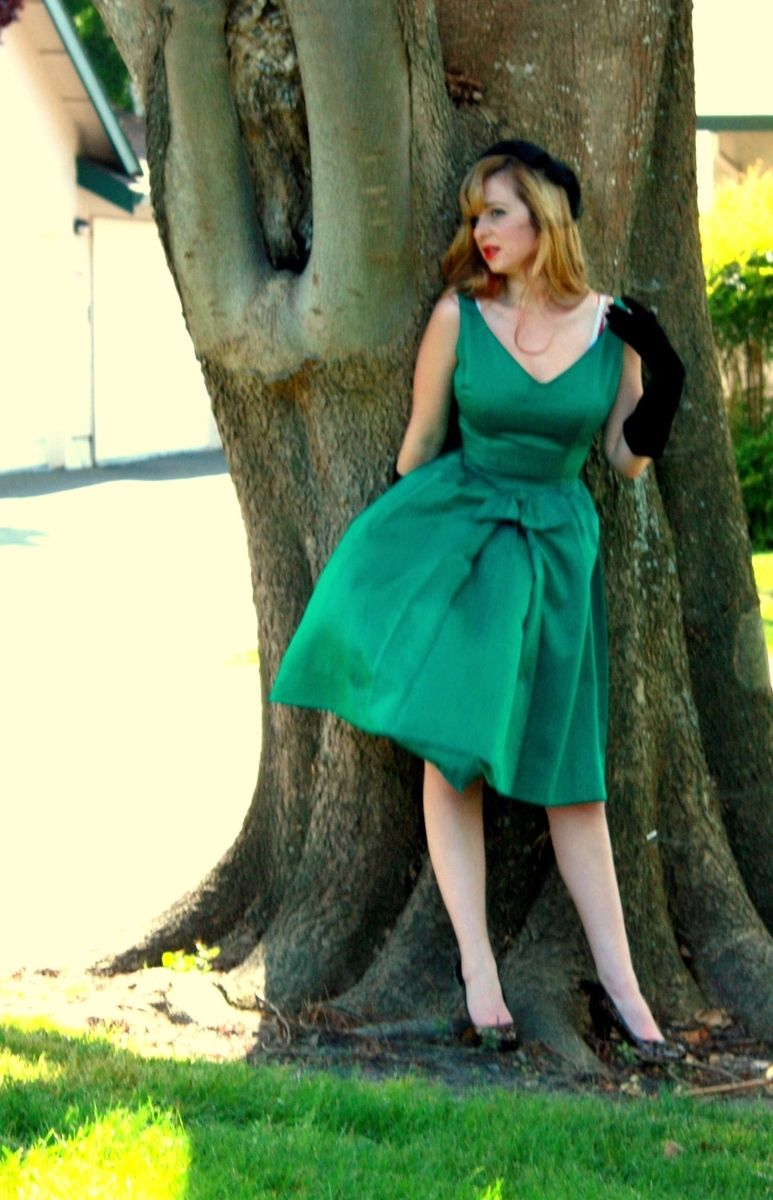 Hand Made Custom Couture Silk Satin 60s Cocktail Dress Any Size ...