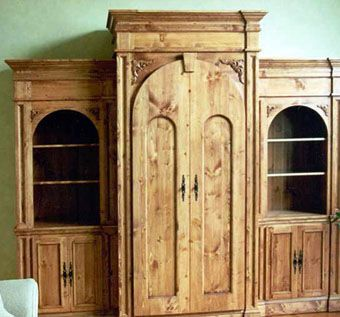 Custom Made Knotty Pine Entertainment Center