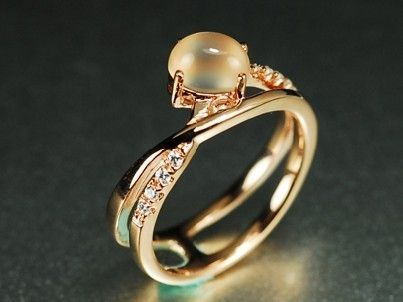set diamond moon engagement rings round half ring recycled gold prong