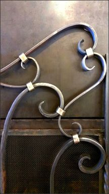 Custom Made Hand Forged Brass & Steel Gate/Firescreen