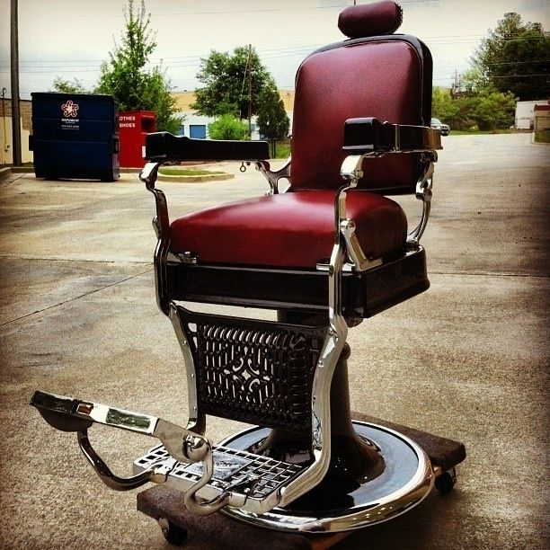 Custom Made 1920'S Koken Barber Chair Restoration - Custom Made 1920'S Koken Barber Chair Restoration By Custom Barber