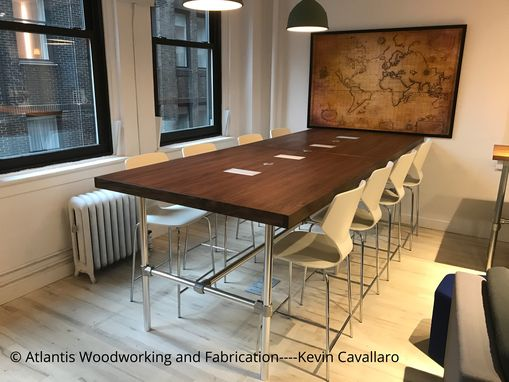 Custom Made Black Walnut Conference Table