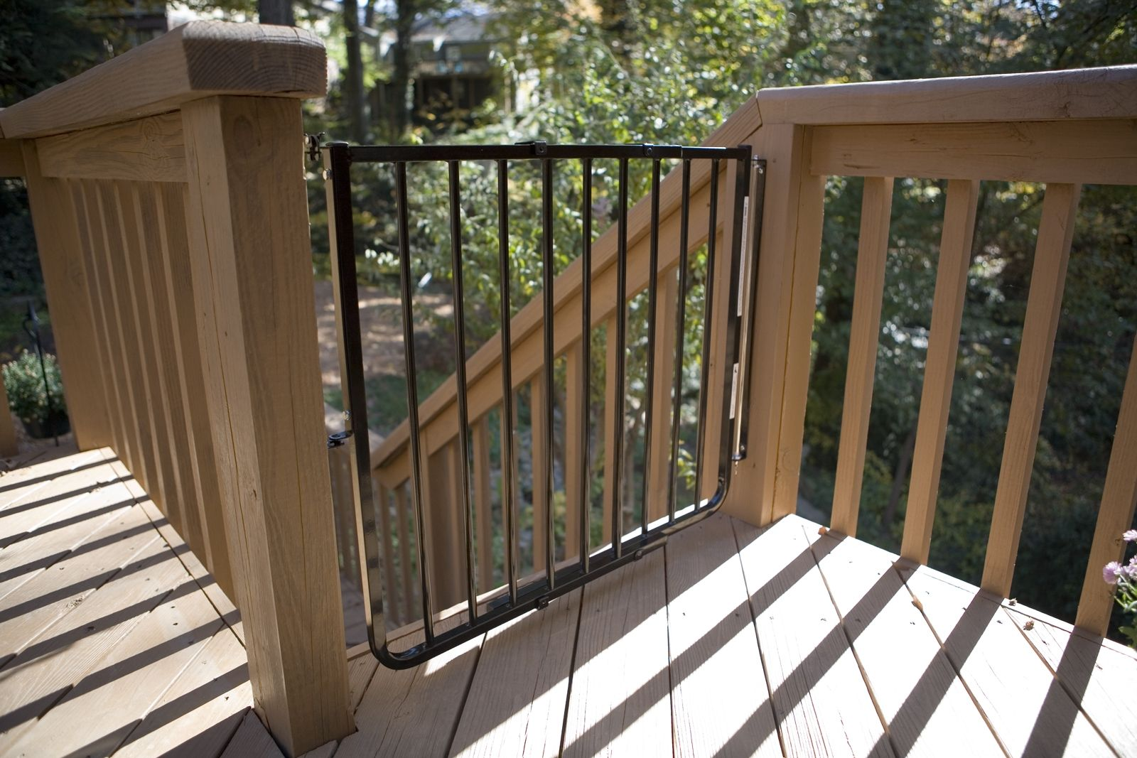 Hand Made Outdoor Baby Stair Gate By Mickey Rooney