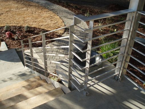 Custom Made Aluminum Rail And Spiral Staircases