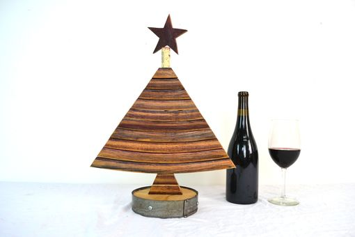 Custom Made Holiday Tree - Serrata - Wine Barrel Stave Tree