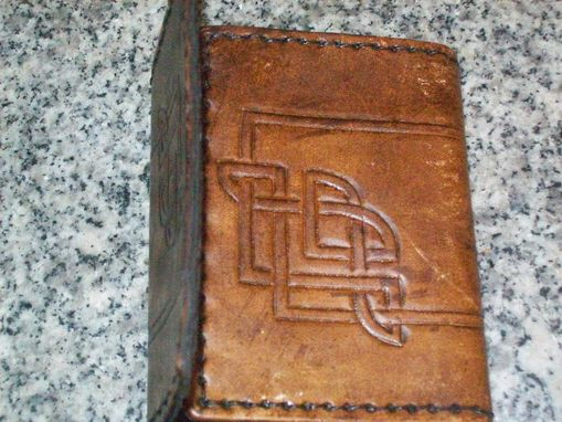 Custom Made Deluxe Style Leather Trifold Wallet In Bison Brown
