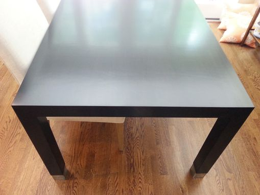 Custom Made Modern Dining Room Table In Ebony Stain