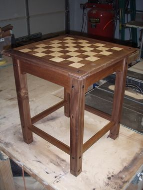 Custom Made Checkered Craftsman End Table